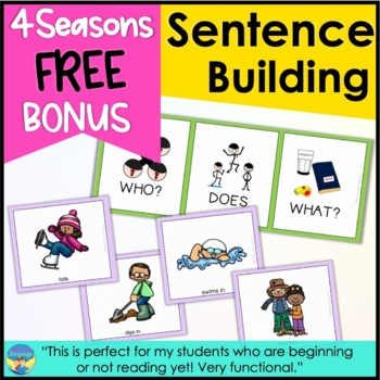 Sentence Building Activities with Pictures: Free Mini Set!