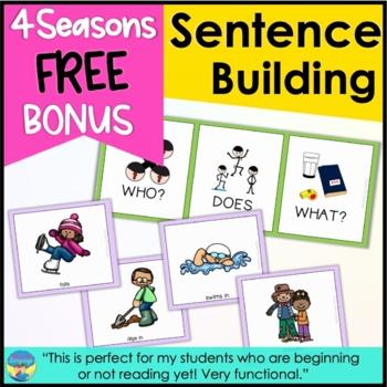 Sentence Builders Seasonal Mini Activity Set