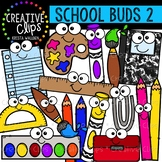 School Supply Buds 2: School Clipart {Creative Clips Clipart}