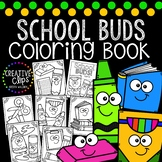 School Supply Buds Coloring Book {Made by Creative Clips Clipart}