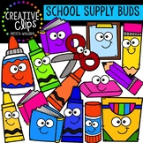 School Supply Buds: School Clipart {Creative Clips Clipart}