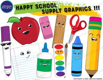 School Supply Clip Art!