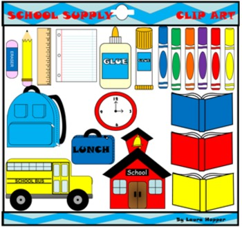 School Supply Clip Art