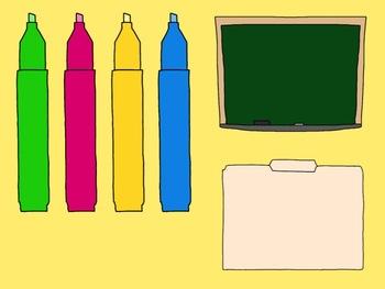 School Supply Clip Art Collection