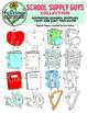 School Supply Clip Art Collection: 20 school supplies in c