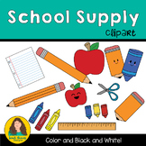 School Supply Clip art for Classroom use and TPT Sellers!