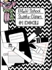 School Supply Clipart (crayons, markers, pencils)