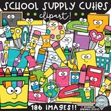 School Supply Cuties Clipart MEGA Set {school supply clipart}