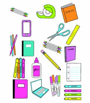 School Supply Doodles