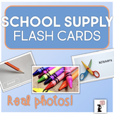 School Supply Flash Cards - Real Photos!