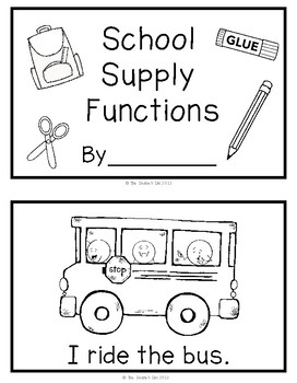 School Supply Function Books