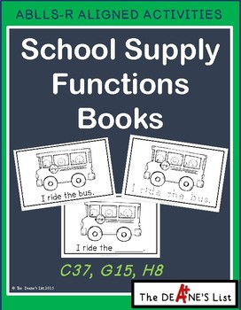 School Supplies Function Books