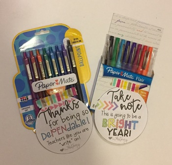 School Supply Gift Tags!