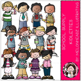 School Supply Kidlettes clip art - by Melonheadz