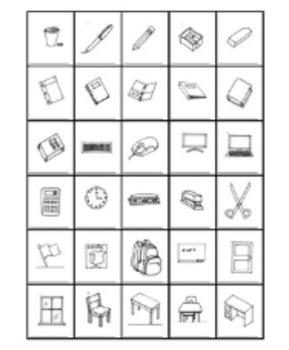 School Supply Label Worksheet
