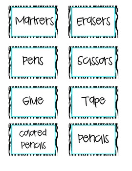 School Supply Labels