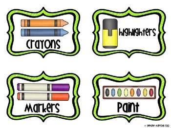School Supply Labels {Freebie}
