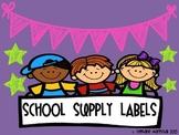 School Supply Labels {Freebie}