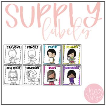#TPTFIREWORKS School Supply Labels