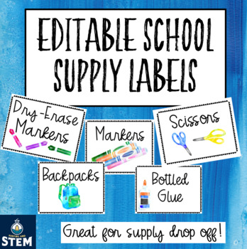 Open House School Supply Labels