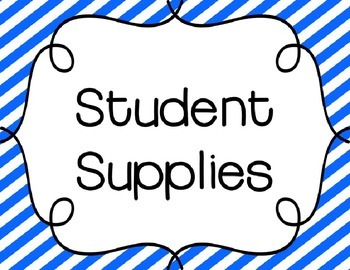 School Supply Labels {Bright Stripes} *EDITABLE*