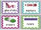 School Supply Labels: Chevron & Glitter Theme