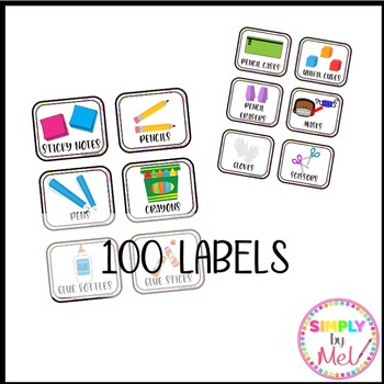 Classroom Supply Labels (EDITABLE)