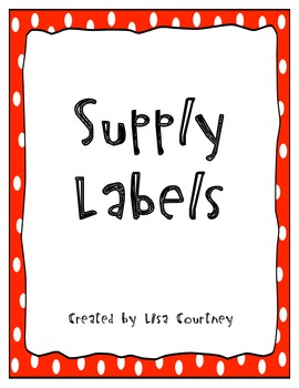 School Supply Labels - FREE
