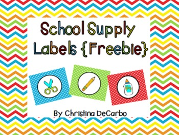 School Supply Labels {Freebie!}