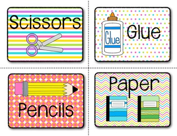 School Supply Labels {With Additional Blank Labels!}