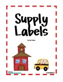 School Supply Labels for Open House