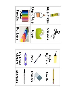 School Supply Labels for your Classroom