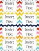 School Supply Labels {Editable} - colorful chevron