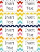School Supply Labels {Editable} - colorful chevron