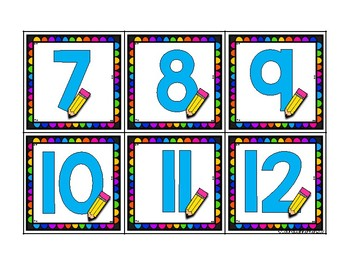 School Supply Math Counting-A Fun Number Sence Activity