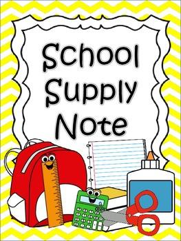 School Supply Note