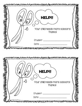 School Supply Notes to Parents-FREEBIE!!
