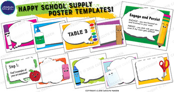 School Supply Poster Templates