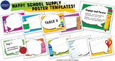 School Supply Poster Templates