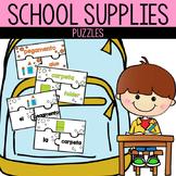 Spanish School Supply Puzzles | Rompecabezas de los Materi