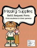 School Supply Refill and Replacement Notice to Parents from Students