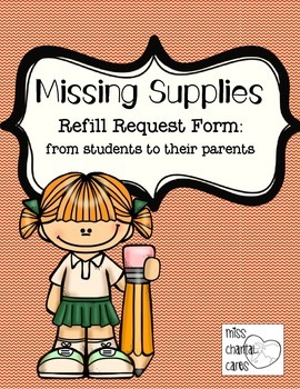 School Supply Refill and Replacement Notice to Parents fro