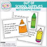 School Supply Reminder Note