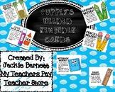School Supply Reminder Notes