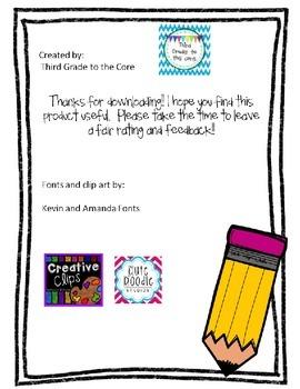 School Supply Replenishment Note - Editable!