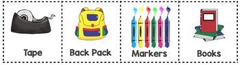 School Supply Rhythmic Building Blocks