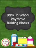 School Supply Rhythmic Building Blocks