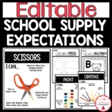 School Supply Rules and Expectations for Back to School |