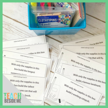 Back to School: School Supply STEM Challenge Cards