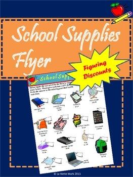 School Supplies Sales Flyer